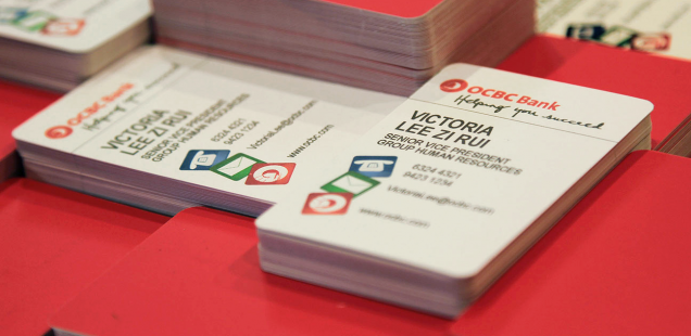 OCBC Group Human Resources Business Card